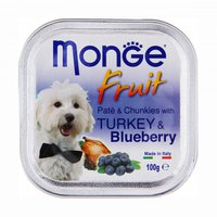 Monge Dog Fruit консервы Индейка,черника 100 гр